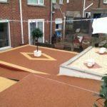 patio and garden area