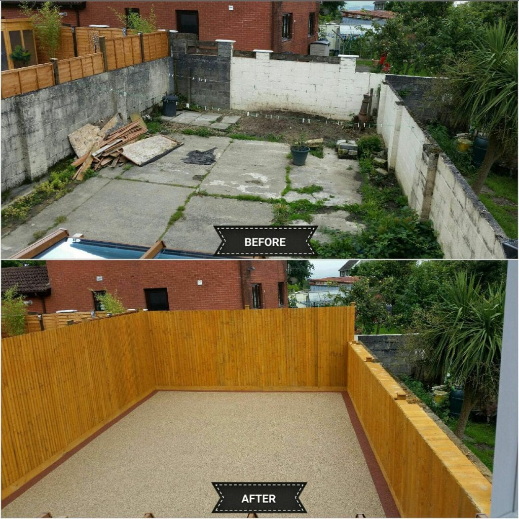 before and after resin back yard