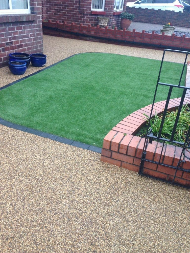 resin pathway in garden