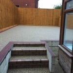 bonded resin patio area