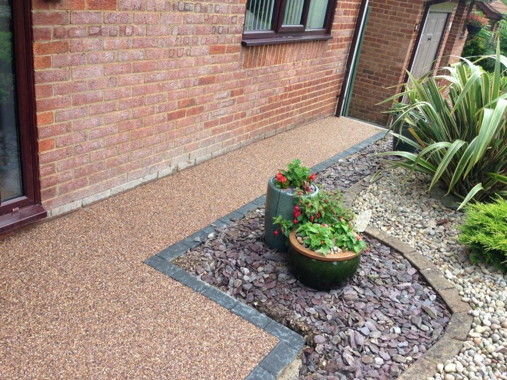 resin bound garden area