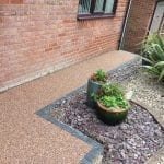 resin bound garden area