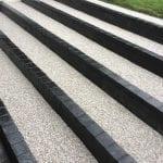 bonded resin steps