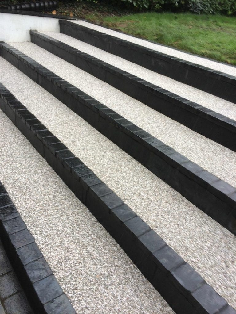 bonded resin steps