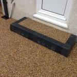 front doorstep in resin stone