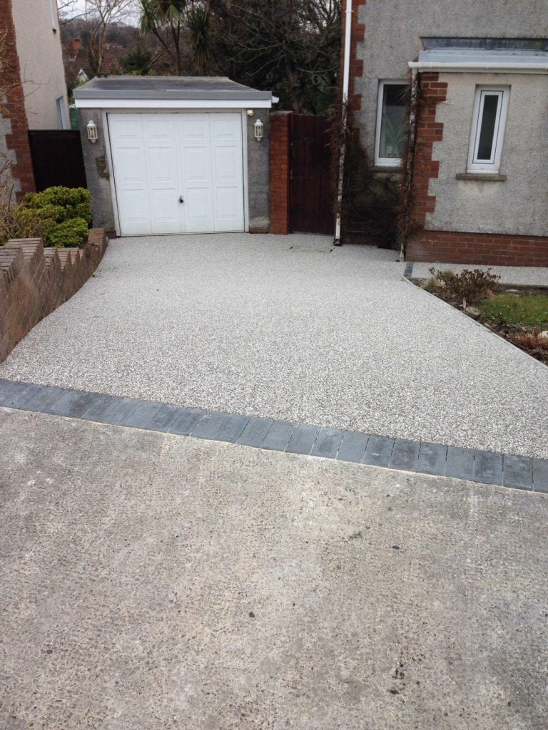 resin bound driveway to garage
