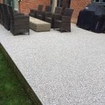 bonded resin patio surface
